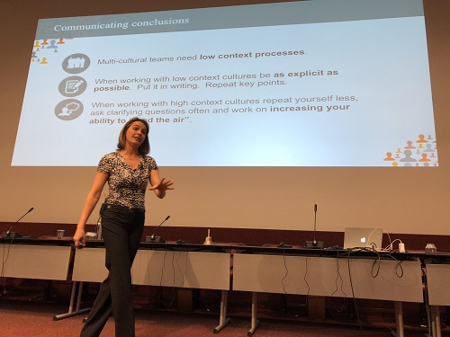 Erin Meyer at AMM of PMI-CH in Geneva